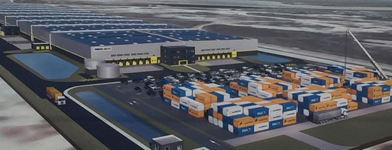 Visuel 3D Plateforme logistique Mediaco Vrac