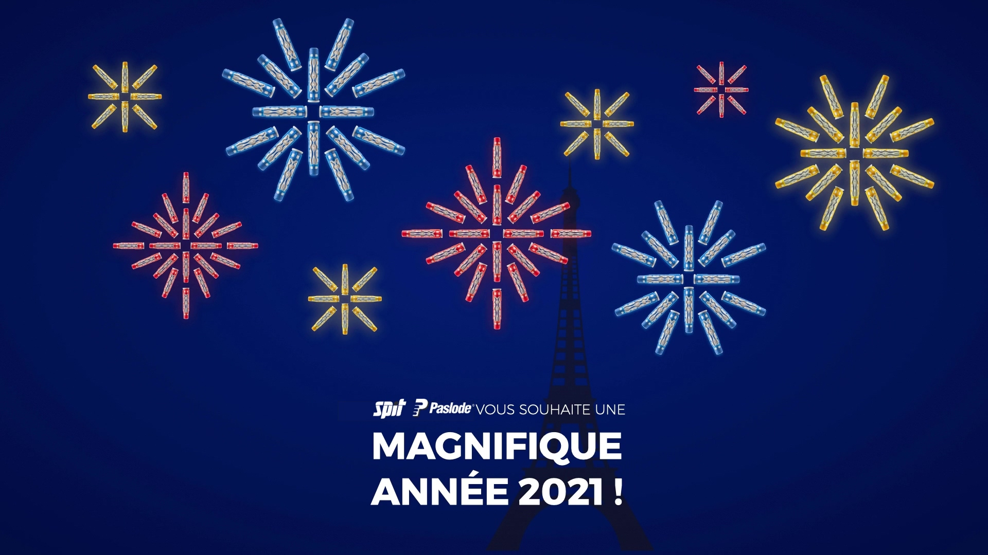 Toute l'équipe SPIT PASLODE vous souhaite une belle année 2021 !